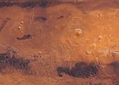 Volcanoes, Mars, illustration