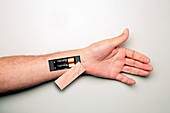Battery-powered arm, conceptual image