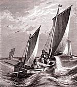 Mackerel fishing, 19th century