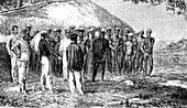 Tribal leader proclaimed on New Caledonia, 19th century