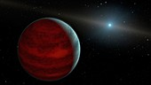 Rejuvenated gas giant planet, illustration