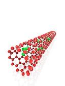 Carbon nanotube containing gadolinium ions, illustration
