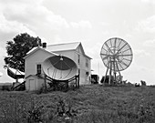 First NRAO radio telescopes, 1950s