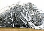 Collapsed 300-foot Green Bank radio telescope, 1988