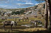 Ice Age animals, illustration