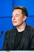 Elon Musk at NASA press conference.