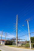 Electricity substation in Cocoa, Florida