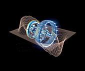 Warp drive spacecraft, illustration