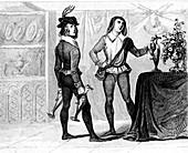 Royal servant, historical illustration