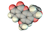 Aflatoxin B1, molecular model