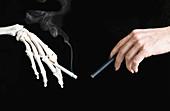 Health benefits of e-cigarettes, conceptual image