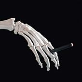 Dangers of electronic cigarettes, conceptual image