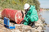 Examination of chemical leak