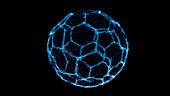 Esport soccer ball, conceptual illustration