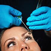 Eyebrow piercing