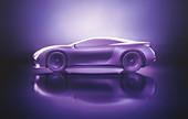 Aerodynamic sports car, illustration