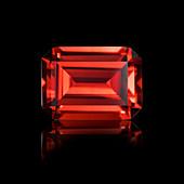 Emerald cut ruby