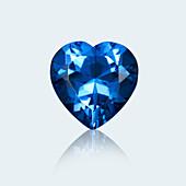 Heart cut sapphire
