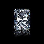 Radiant emerald cut diamond