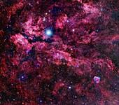 Butterfly nebula, optical image
