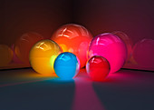 Glowing spheres, illustration