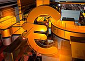 Euro symbol, illustration