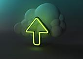Cloud storage, conceptual illustration
