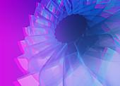 Spinning fan pattern, illustration