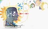 Intelligence, conceptual illustration