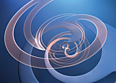 Abstract swirling pattern, illustration