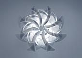 Abstract spinning pattern, illustration
