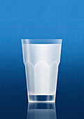 Milk in glass, illustration