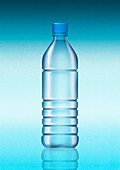 Plastic water bottle, illustration