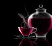 Fruit tea, illustration