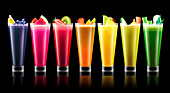 Glass of smoothie, illustration
