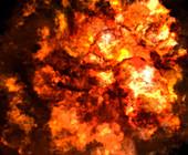 Fiery explosion, illustration