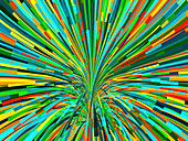 Abstract fan shape with rainbow colours, illustration