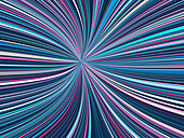 Abstract line shape with pink and blue colours, illustration