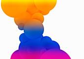 Multicoloured bubbles, illustration