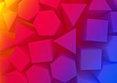 Geometric shapes, illustration