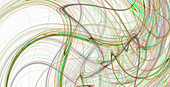 Swirling light trail abstract pattern, illustration