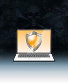 Internet security, illustration