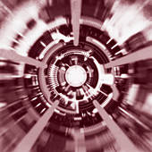 Abstract futuristic tunnel, illustration