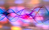 Abstract multicoloured wave pattern, illustration
