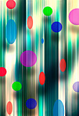 Abstract multicoloured polka dot pattern, illustration
