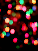 Abstract multicoloured glowing lights, illustration