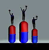 Doping in sport, illustration