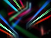 Abstract pattern of glowing lines, illustration