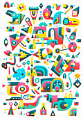 Abstract shapes, illustration