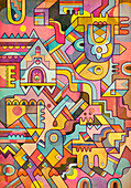 Psychedelic abstract illustration